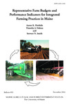 B850: Representative Farm Budgets and Performance Indicators for Integrated Farming Practices in Maine by Aaron K. Hoshide, Timothy J. Dalton, and Stewart N. Smith