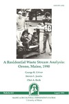 B833: A Residential Waste Stream Analysis: Orono, Maine, 1990 by George K. Criner, Steven L. Jacobs, and Chet A. Rock