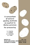 B624: A Comparison of Several Peeling Methods as Applied to Maine Potatoes for Processing