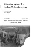 B639: Alternative Systems for Feeding Maine Dairy Cows by Homer Metzger and Dean F. Tuthill