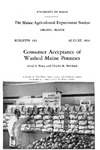 B493: Consumer Acceptance of Washed Maine Potatoes by Alvah L. Perry and Charles H. Merchant