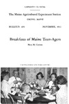 B495: Breakfasts of Maine Teen-Agers by Mary M. Clayton