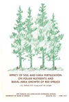 B740: Effect of Soil and Urea Fertilization on Foliar Nutrients and Basal Area Growth of Red Spruce by L.O. Safford, H.E. Young, and T.W. Knight
