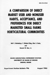 B796: A Comparison of Direct Market Users and Nonusers Habits, Acceptance, and Preferences for Direct Marketed Small Farms Horticulture Commodities by Neil C. Buitenhuys, F. Richard King, Alan S. Kezis, and Howard W. Kerr