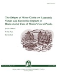 MR421: The Effects of Water Clarity on Economic Values and Economic Impacts of Recreational Uses of Maine's Great Ponds