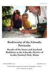 TB206: Biodiversity of the Schoodic Peninsula: Results of the Insect and Arachnid Bioblitzes at the Schoodic District of Acadia National Park, Maine