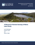 TB207: A Manual for Remote Sensing of Maine Lake Clarity