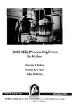 TB181: 2000 Milk Processing Costs in Maine by Timothy J. Dalton, George K. Criner, and John Halloran