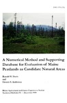 TB175: A Numerical Method and Supporting Database for Evaluation of Maine Peatlands as Candidtate Natural Areas by Ronald B. Davis and Dennis S. Anderson