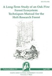 TB153: A Long-Term Study of an Oak Pine Forest Ecosystem: Techniques Manual for the Holt Research Forest