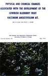 Physical and Chemical Changes Associated with the Development of the Lowbush Blueberry Fruit Vaccinium angustifolium Ait.