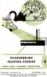 Puckerbrush Pulping Studies