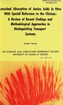 TB50: Intestinal Absorption of Amino Acids In Vitro with Special Reference to the Chicken: A Review of Recent Findings and Methodological Approaches in Distinguishing Transport Systems