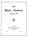 Maine Alumnus, Volume 1, Number 3, February 1920 by General Alumni Association, University of Maine