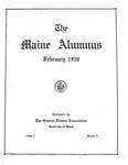 Maine Alumnus, Volume 1, Number 3, February 1920