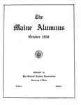 Maine Alumnus, Volume 2, Number 1, October 1920 by General Alumni Association, University of Maine
