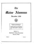 Maine Alumnus, Volume 2, Number 2, December 1920