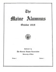 Maine Alumnus, Volume 1, Number 1, October 1919 by General Alumni Association, University of Maine