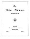 Maine Alumnus, Volume 1, Number 1, October 1919 by General Alumni Association, University of Maine