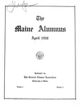 Maine Alumnus, Volume 1, Number 4, April 1920 by General Alumni Association, University of Maine