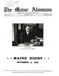 Maine Alumnus, Volume 9, Number 2, October 1927