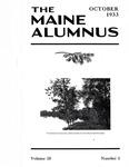 Maine Alumnus, Volume 15, Number 1, October 1933 by General Alumni Association