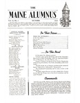 Maine Alumnus, Volume 22, Number 1, October 1940 by General Alumni Association, University of Maine