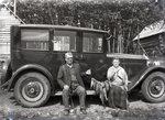 Man + Woman, old car + fish by Bert Call
