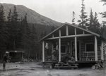 Katahdin Area State Camp Group on Steps , State of Maine Camp - Chimney Pond by Bert Call
