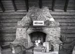 Frasier's Camps - Interior, Fireplace by Bert Call