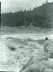 At Sourdnahunk Falls Below Dam (Brubaker) by Bert Call