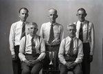 Five Men and Trophy by Bert Call