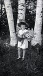 Girl with Bouquet by Bert Call
