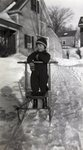 Boy with Sled by Bert Call