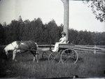 Woman in Cart by Bert Call