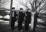 Four Men with Boards by Bert Call
