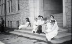 Group of Women on Steps by Bert Call