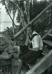 Camp Quest, Rockwood, Maine, Young Woman Sitting