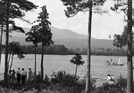 Natarswi Scout Camp, People at Togue Pond by Bert Call