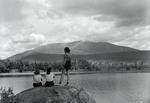 Women Viewing Mount Katahdin by Bert Call