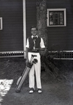 Wassookeag School Golfer with Trophy by Bert Call