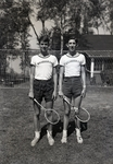 Wassookeag School Tennis Players with Trophies by Bert Call
