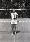 Wassookeag School Tennis Player with Trophy by Bert Call
