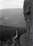 Borestone, Young Woman Sitting on Rock by Bert Call