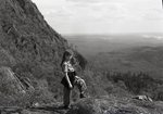 Borestone, Young Woman on Trail by Bert Call