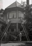 Fay House, Work on Bay Window by Bert Call