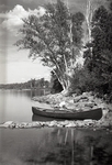 Canoe at Lake Wassookeag by Bert Call