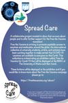 Creativity vs Covid_ Spread Care_Poster by Adriana Cavalcanti, Rochelle Lawrence, and Christiana Becker