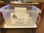COVID-19 Images_Fogler Library_Book Quarantine & Decontamination Bin by Matthew Revitt