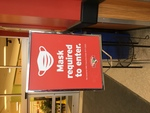 COVID-19 Images_Grocery Store Mask Requirement Sign by Kimbery Sawtelle